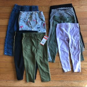 8 pairs of pull on pants